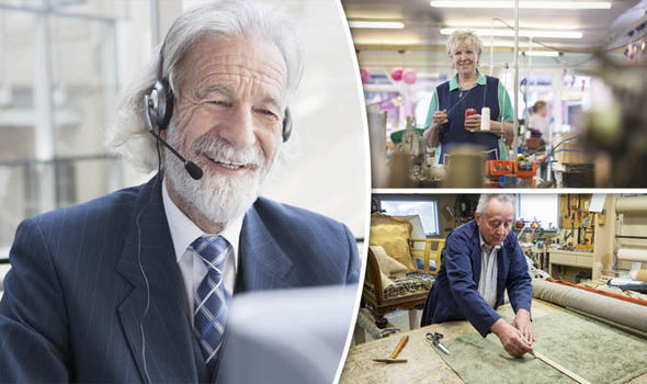 Older people working