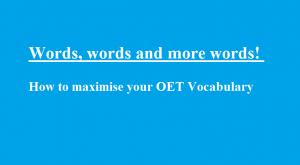 OET Vocabulary writing