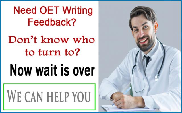 OET Writing Correction