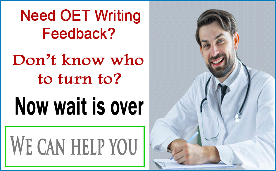 OET Writing Correction