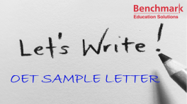OET Sample Referral Letter (Nurse)