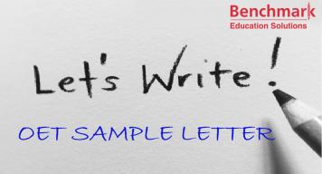 OET Sample Referral Letter (Nurse)