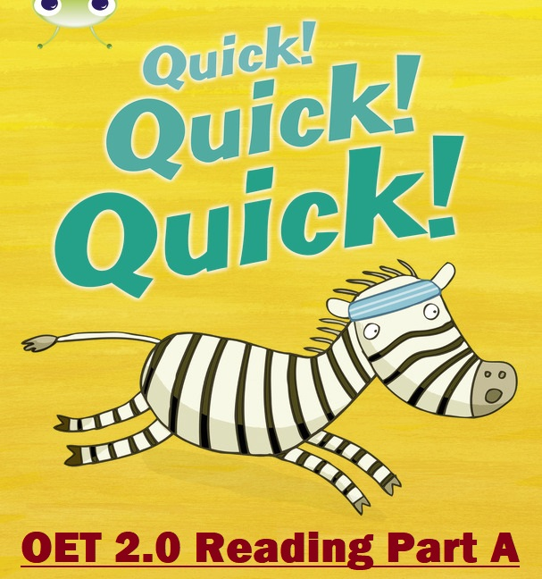 oet 2.0 reading tips