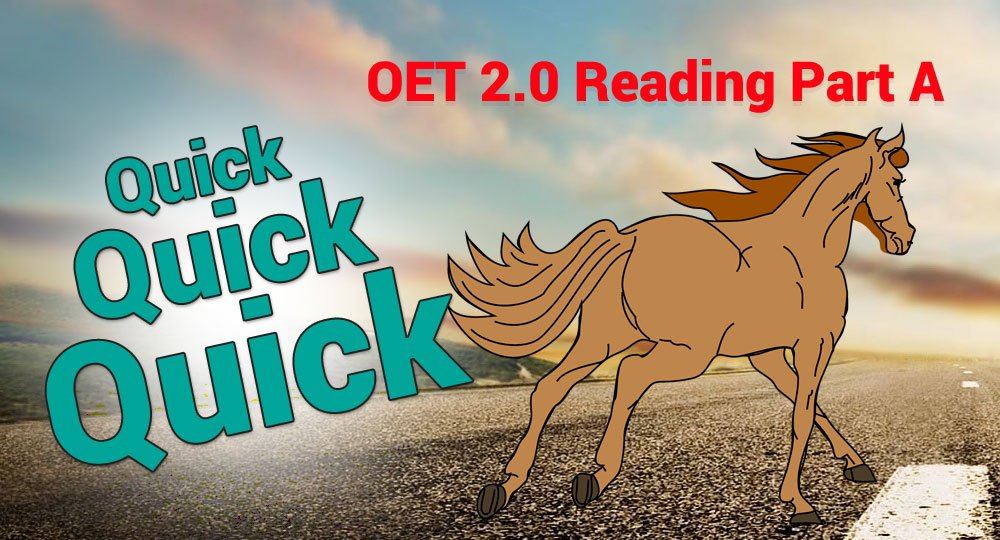 oet reading fast