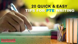 20 Quick and Easy Tips for PTE Writing