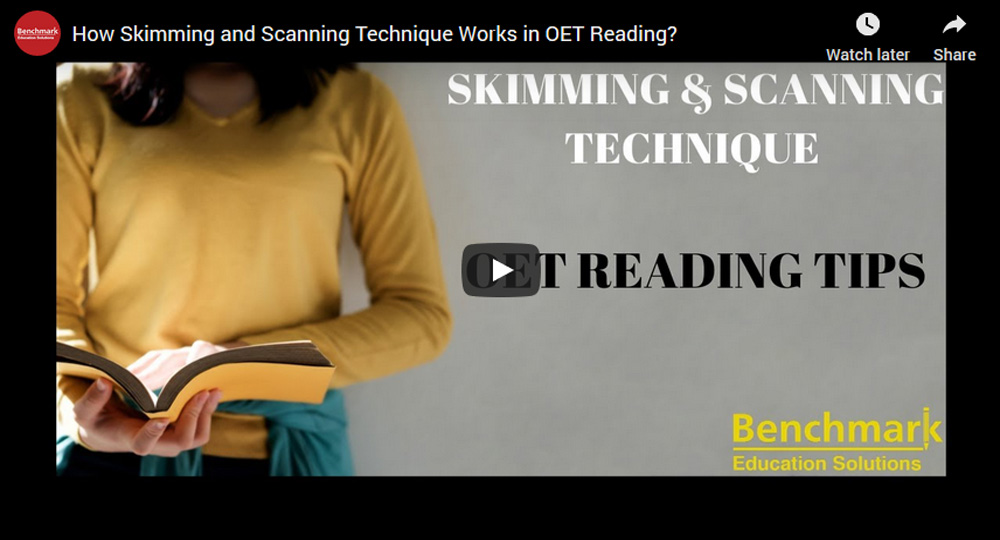 Skimming and scanning techniques