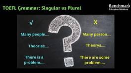 How singular vs plural can lower your TOEFL score