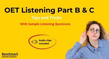 OET listening Part B