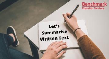 summarize written text