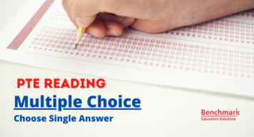 choose single answer pte reading